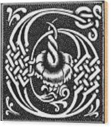 Decorative Initial G Wood Print