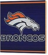 Denver Broncos Wood Print by Joe Hamilton