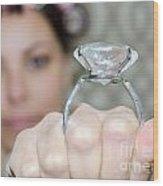 Diamond Ring Wood Print