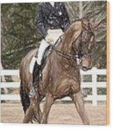 Dressage Horse Portrait Wood Print