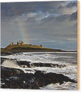 Dunstanburgh Castle Wood Print