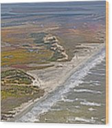 East Coast Aerial Near Jekyll Island Wood Print