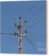 Electric Pylon Wood Print