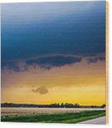 Elm Creek Nebraska Supercell Wood Print