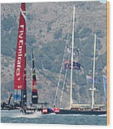 Emirates Team New Zealand Wood Print