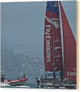 Emirates Team New Zealand Wood Print by Steven Lapkin