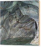 Eroded Marble Shoreline Wood Print