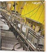 Escalator Construction Works Wood Print