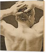Eugen Sandow Wood Print by George Steckel