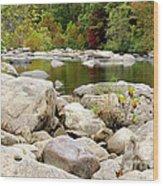 Fall Along Cherry River Wood Print