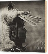 4 - Feathers Wood Print