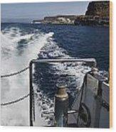 Ferry Hasta Puerto De Mogan Wood Print