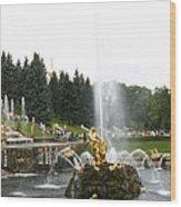 Fountain In Petergof Wood Print