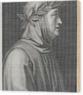 Francesco Petrarch  Italian Poet Wood Print