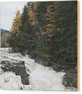 Franconia Notch White Mountians Wood Print