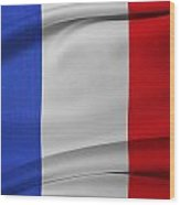 French Flag  Wood Print