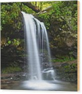Grotto Falls Wood Print