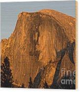 Half Dome, Yosemite Np Wood Print