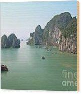 Halong Bay In Vietnam Wood Print