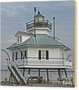 Hooper Straight Lighthouse Wood Print