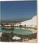 Hot Springs And Travertine Pool Wood Print