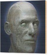 Human Head Wood Print