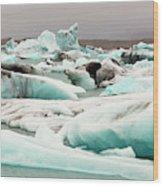Iceberg Formations Broken Wood Print