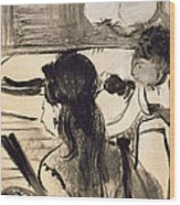 Illustration From La Maison Tellier By Guy De Maupassant Wood Print