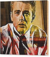 James Dean Wood Print