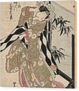 Japan: Tale Of Genji Wood Print