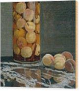 Jar Of Peaches Wood Print