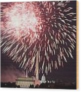 July 4th Fireworks Wood Print by JP Tripp