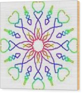 Kaleidoscope Drawing Wood Print