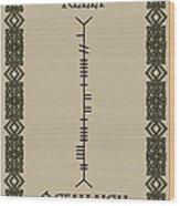 Kelly Written In Ogham Wood Print