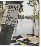 Launch Fee Wood Print