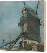 Le Moulin De La Galette Wood Print
