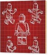 Lego Figure Patent 1979 - Red Wood Print