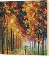 Light Of Autumn Wood Print