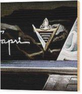 Lincoln Capri Emblem Wood Print