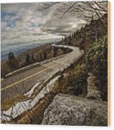 Linn Cove Viaduct During Winter Near Blowing Rock Nc Wood Print