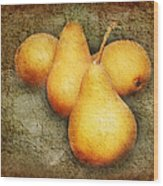 4 Little Pears Are We Wood Print