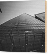 looking up at the shard building London England UK Wood Print