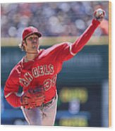 Los Angeles Angels Of Anaheim V Detroit Wood Print