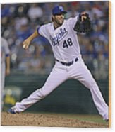 Los Angeles Dodgers V Kansas City Royals Wood Print