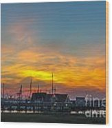 Harbor Lowcountry Sunset Wood Print