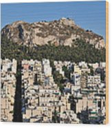 Lycabettus Hill During Sunset Wood Print