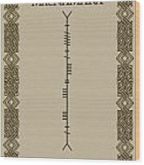 Macnamara Written In Ogham Wood Print