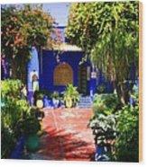 Majorelle Garden Marrakesh Morocco Wood Print