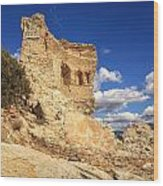 Martello Tower Near St Florent In Corsica Wood Print