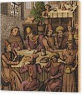 Medieval Accountants, 1466 Wood Print